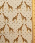 Giraffe fabric UK 80% Cotton 20% Poly material upholstered feel - Price Per Metre